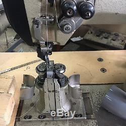 Pfaff post bed Sewing Machine Double needle with roller foot Pneumatic
