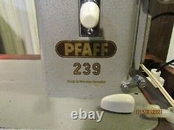 Portable Industrial Strength Heavy Duty Pfaff Model 239 Sewing Machine