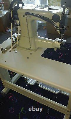 REVERSE leather Buster industrial cylinder ARM COMMERCIAL SEWING MACHINE