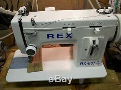 REX RX-607Z Zig-Zag and Straight Stitch Portable Walking Foot Sewing Machine