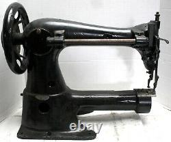 Rare SINGER 43-7 Cylinder Bed Industrial Sewing Machine Missing Parts Head Only