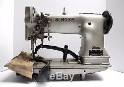 SINGER 111WSV53 Walking Foot Right Top Knife Industrial Sewing Machine Head Only