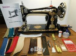 SINGER 127 Industrial Strength HEAVY DUTY Sewing Machine 16 oz LEATHER 1.5 Amp