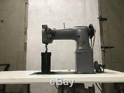 SINGER 138W101 Post Bed 2-Needle Feed 1/4 Industrial Sewing Machine