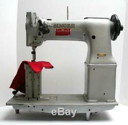 SINGER 138W101 Post Bed 2-Needle Feed 1/4 Industrial Sewing Machine Head Only