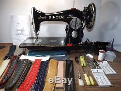 SINGER 15-88 Industrial Strength HEAVY DUTY Sewing Machine 16oz LEATHER 3/8 LIFT