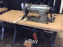 SINGER 212U143A Industrial Double Needle Sewing Machine -Gauge 1/4- Japan