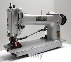 SINGER 241-12 Lockstitch 1-Needle Puller Industrial Sewing Machine Head Only