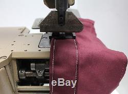 SINGER 300W-2 Cylinder Bed 2-Needle Chainstitch Binder Industrial Sewing Machine