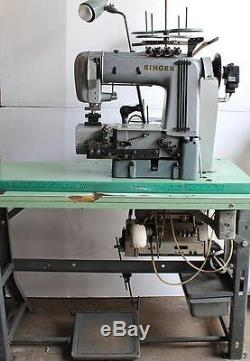 SINGER 302W201 Chain Stitch Cylinder 4-Needle 8-Thread Industrial Sewing Machine