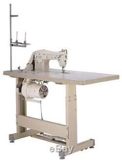 SINGER INDUSTRIAL SEWING MACHINE 191D-30 Complete Stand, SERVO Motor, LED LAMPS