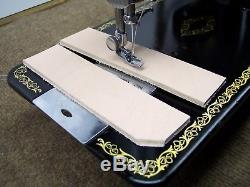 SINGER INDUSTRIAL STRENGTH HEAVY DUTY SEWING MACHINE 16oz Leather 3/8 Lift
