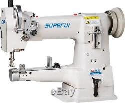 SUPERUI LT-335A Leather Heavy Duty Industrial Cylinder Bed Sewing Machine New