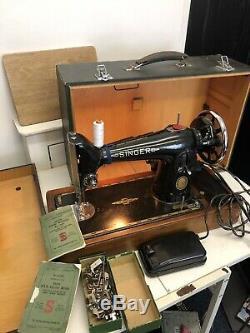 Semi-Industrial Singer 201K Elec Sewing Machine, sews LEATHER
