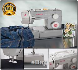 Sewing Machine Singer Heavy Duty Portable Industrial Leather Embroidery Bedplate