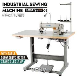 Sewing Machine with Table+Servo Motor+Stand &LED Lamp Quality New Model Complete