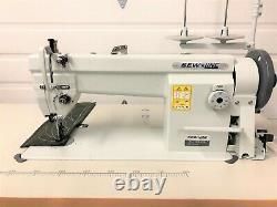 Sewline Sl-106-rb Triple Feed Walking Foot 110v Servo Industrial Sewing Machine