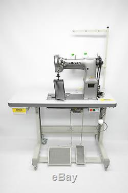 Singer 138W101 Twin Needle Needle Feed Post Bed Industrial Sewing Machine