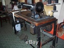 Singer 145wsv27 long arm walking foot double needle industrial sewing machine