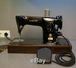 Singer 201k Heavy Duty Semi Industrial Sewing Machine / Nähmaschine Serviced