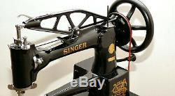 Singer 29-4 Sewing Machine / Cobbler / Patcher Total Restoration Must See
