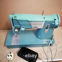 Singer 327K Green Vintage 1960s Sewing Machine & Case