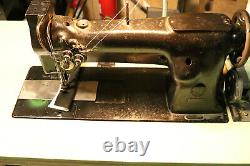 Singer Industrial Heavy Duty Double Needle Feed Leather Sewing Machine 112W115