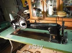 Singer Long Arm Walking Foot 30 144W302 Industrial Leather Sewing Machine Used