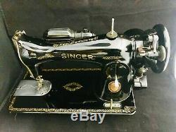 Singer Sewing Machine 15-91, Serviced. Sews Leather