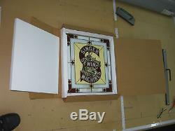 Singer Sewing Machine Stain Glass Advertising Window Sign With Original Box