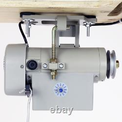 Speedway SW-810 Sewing Machine, Post Bed, Roller feed lamp Servo Motor+Table. DiY