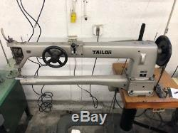 Tailor Single Needle Long Arm Heavy Duty Cylinder Sewing Machine TG-360NR