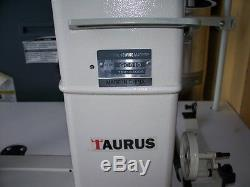 Taurus 810 narrow post bed, roller feet industrial sewing machine with servo