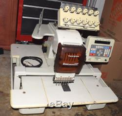 Toyota ESP 820 Commercial Embroidery Sewing Machine with Accessories