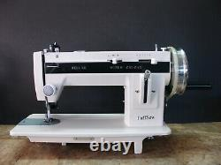 Tuffsew Zigzag 9 industrial walking foot sewing machine with monster wheel