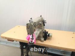 UNION SPECIAL 31200Q TWO NEEDLE UP-ARM TAPER WithFOLDER INDUSTRIAL SEWING MACHINE