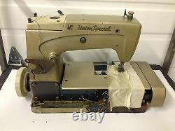 UNION SPECIAL 57700 2 NEEDLE COVERSTITCH WithEDGECUTTER INDUSTRIAL SEWING MACHINE