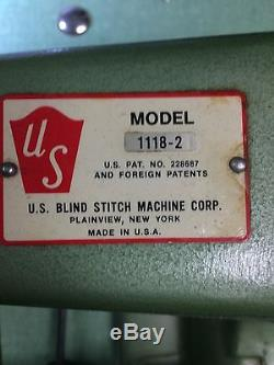 U. S. Blindstitch Model 1118-2 Industrial Sewing Machine (withFull Motor & Table)
