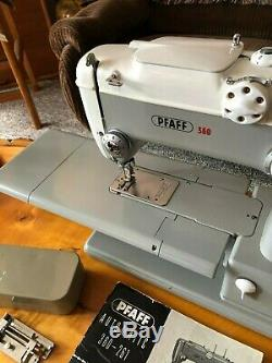 VINTAGE Ca. 1960's PFAFF 360 AUTOMATIC INDUSTRIAL STRENGTH SEWING MACHINE