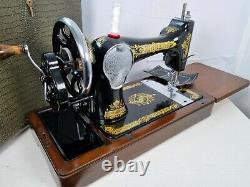 VINTAGE SINGER 28K HANDCRANK SEWING MACHINE, FULL SERVICE, for Leather Upholstery