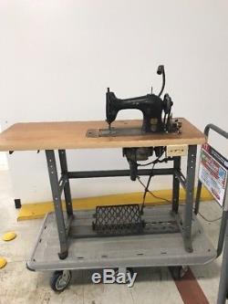 Vintage 1916 95-10 Singer Industrial Sewing Machine Table Working