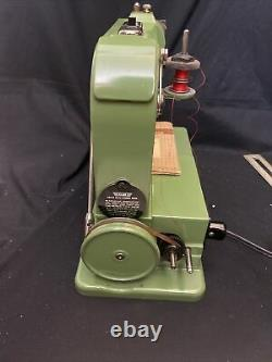 Vintage ELNA Grass Hopper 500970 Portable Sewing Machine Green Swiss