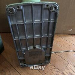 Vintage ELNA Supermatic Portable Sewing Machine Avacado Green With Case