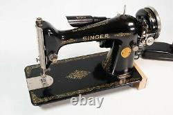 Vintage Early 1931 Singer 66 Sewing Machine Foot Pedal & Attachments Industrial