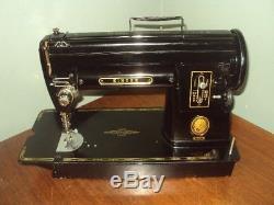 Vintage Heavy Duty Industrial Black SINGER 301 Sewing Machine Works Looks Great