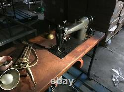 Vintage Industrial Singer Sewing Machine 241-11 with Table Motor Thread Stand