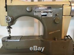 Vintage Necchi Supernova Sewing Machine Italy HEAVY DUTY INDUSTRIAL Tested