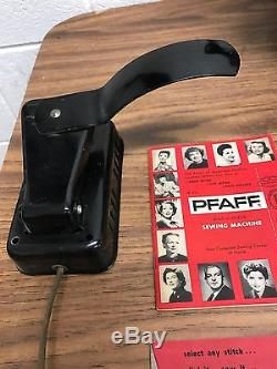 Vintage PFAFF 130 130-6 SEWING MACHINE Great Condition Manuals/Accessories