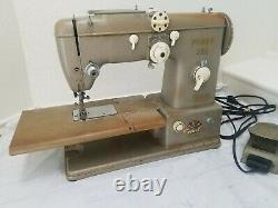 Vintage Pfaff 332 Sewing Machine With Power Cord & Foot Petal