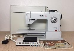 Vintage Pfaff Industrial Sewing Machine 1222 with Foot Pedal and portable case